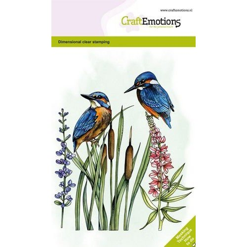 CraftEmotions CraftEmotions clearstamps A6 - Ijsvogel GB Dimensional stamp
