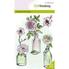 CraftEmotions clearstamps A6 - Rozen GB Dimensional stamp