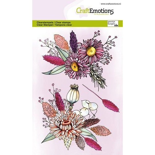 CraftEmotions CraftEmotions clearstamps A6 - Droogbloemstuk GB ((01-21)