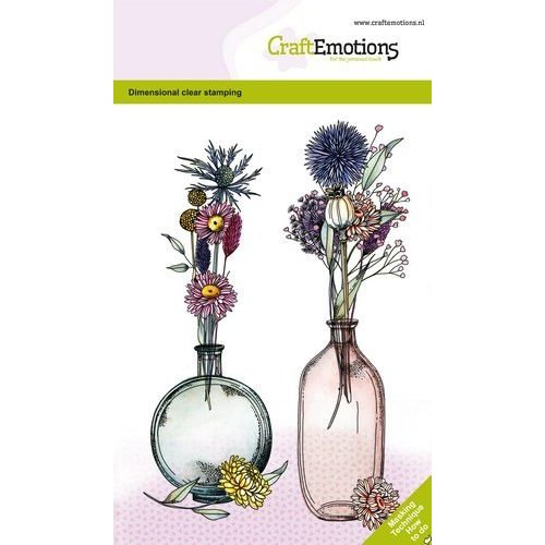 CraftEmotions CraftEmotions clearstamps A6 - Droogbloemenvaas 1 GB Dimensional stamp