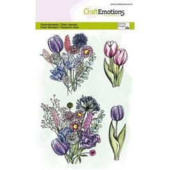 CraftEmotions clearstamps A6 - Tulpenboeket GB