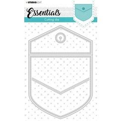 Studio Light Cut.& Emb. Die Cardshape Essentials nr.367 STENCILSL367 140x206mm