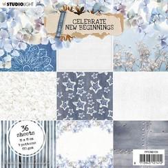 Studio Light Paper pad Celebrate new beginnings nr.159 PPCNB159 150x150mm
