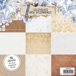Studio Light Paper pad Celebrate new beginnings nr.160 PPCNB160 150x150mm
