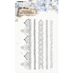 Studio Light Clear Stamp Celebrate new beginnings nr.517 STAMPCNB517 A5