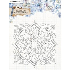 Studio Light Clear Stamp background Celebrate new beginnings nr.519 STAMPCNB519 150x150mm