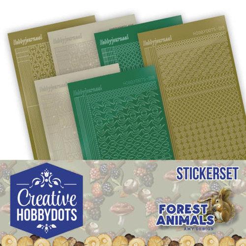 Amy Design CHSTS012 - Creative Hobbydots Stickerset 12 - Amy Design - Forest Animals