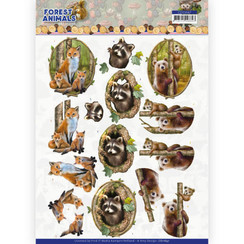 CD11647 - 10 Knipvellen - Amy Design  Forest Animals - Fox