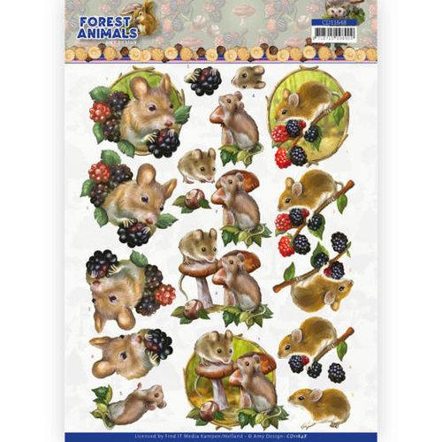 Amy Design CD11648 - 10 Knipvellen - Amy Design  Forest Animals - Mouse
