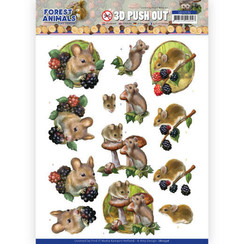 SB10536 - Uitdrukvel - Amy Design  Forest Animals - Mouse