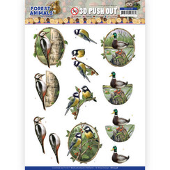 SB10538 - Uitdrukvel - Amy Design  Forest Animals - Woodpecker