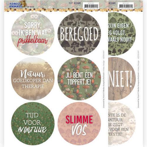 Amy Design ADTD1007 - Uitdrukvel - tekstjes - Amy Design  Forest Animals (NL)
