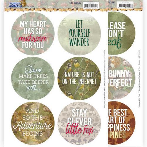 Amy Design ADTD1008 - Uitdrukvel - tekstjes -  Amy Design  Forest Animals (EN)
