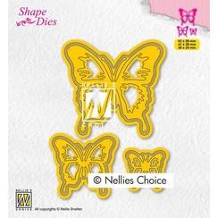 Nellies Choice Shape Die - Vlinders SD196 53x59mm