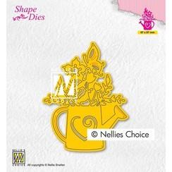Nellies Choice Shape Die - Waterkan met bloemen SD197 67x87mm