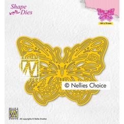 Nellies Choice Shape Die - Vlinder SD199 101x75mm