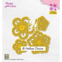 Nellies Choice Shape Die - Bloemen set SD200 51x51mm