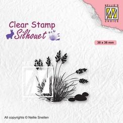 Nellies Choice Clearstempel - Silhouette Bloeiend gras - 4 SIL085