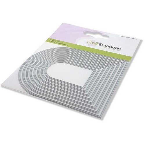 CraftEmotions Die - randen toog Card 11x9cm - 5,2 - 10,8 cm