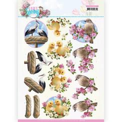 CD11654 - 10 stuks knipvel -- Amy Design - Enjoy Spring - Birds