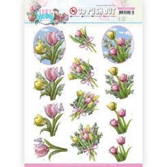 SB10539 - Uitdrukvel- Amy Design - Enjoy Spring - Bouquets of Tulips