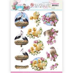SB10540 - Uitdrukvel -  Amy Design - Enjoy Spring - Birds