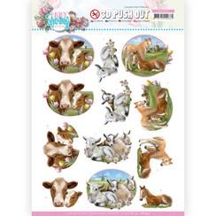 SB10542 - Uitdrukvel - Amy Design - Enjoy Spring - Farm Animals