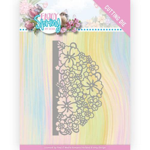 Amy Design ADD10239 - Mal - Amy Design - Enjoy Spring - Half Flower Circle