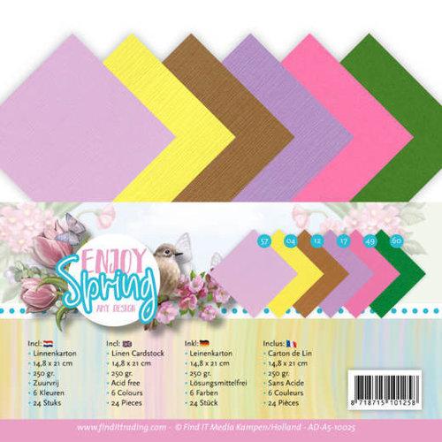 Amy Design AD-A5-10025 - Linnen karton - A5 - Amy Design - Enjoy Spring