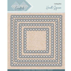 CDECD0100 -  Card Deco Essentials - Nesting Dies - Bullet Hearts Square
