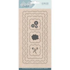 CDECD0103 - Card Deco Essentials - Slimline Dies - Slimline Buttons