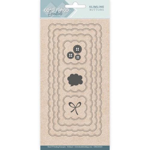 Card Deco CDECD0103 - Card Deco Essentials - Slimline Dies - Slimline Buttons