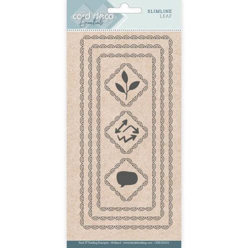 Card Deco CDECD0101 - Card Deco Essentials - Slimline Dies - Slimline Leaf