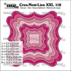 Crealies Crea-nest-dies XXL Fantasievorm F Stiklijn CLNestXXL112 max. 13 x 13 cm