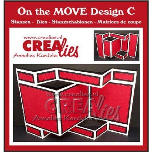 Crealies Crealies On The Move Design C CLMOVE03 13,5 x 27 cm