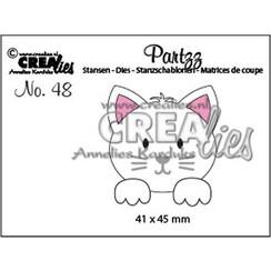 Crealies Partzz Kat CLPartzz48 41 x 45 mm