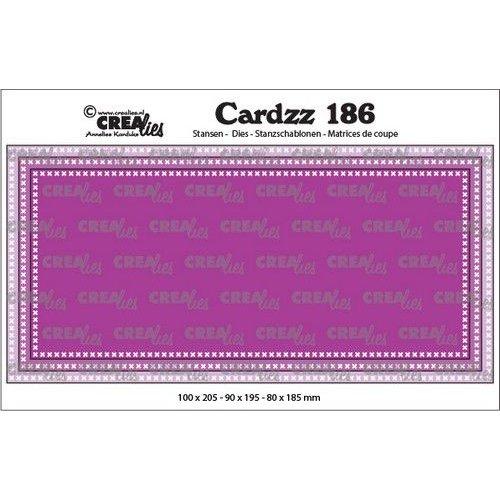 Crealies Crealies Cardzz Slimline F Kruissteekjes CLCZ186 max. 10 x 20,5 cm