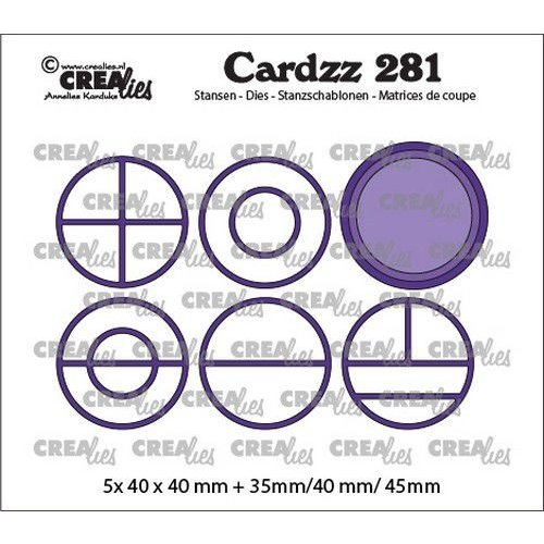 Crealies Crealies Cardzz Elements Cirkels CLCZ281 5x 40 x 40 mm