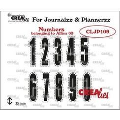 Crealies Journalzz & Pl Stempels Cijfers 03 CLJP109 35 mm