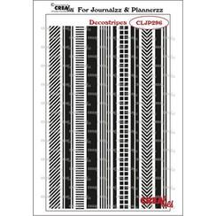 Crealies Journalzz & Pl Stempels Decostrepen CLJP296 11 x 195 mm