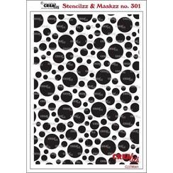 Crealies Stencilzz/Maskzz Cirkels CLSTM301 15 x 21 cm