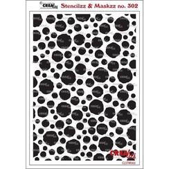 Crealies Stencilzz/Maskzz Cirkels ruwe randen CLSTM302 15 x 21 cm