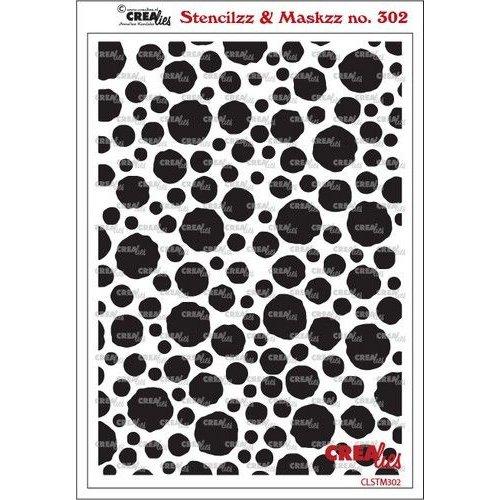 Crealies Crealies Stencilzz/Maskzz Cirkels ruwe randen CLSTM302 15 x 21 cm