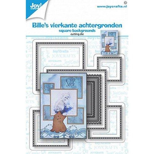 Joy!Crafts Joy! Crafts Stansmal - Billie's vierkanten achtergronden 6002/1562 104x89 mm