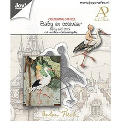 Joy! Crafts Snij-debos-embosstansmal - Anton Pieck - Baby 2 6002/1612 58x47 mm