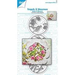Joy! Crafts Snij-debos-embosstansmal - vogels en Bloemen 6002/1615 45x140 mm