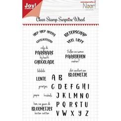 Joy! Crafts Clear stempel - Noor - Surprise wheel - tekst NL 6410/0531 146x105 mm