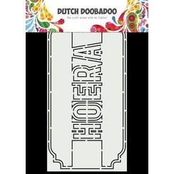 Dutch Doobadoo Dutch Card Art A5 Slimline Hoera 470.713.863 210x105mm