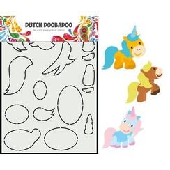 Dutch Doobadoo Dutch Card Art Built up Paard A5 470.713.865 210x148,55mm