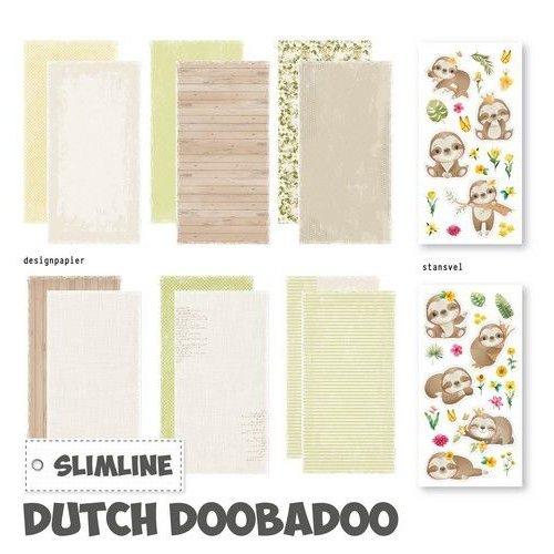 Dutch Doobadoo Dutch Doobadoo Slimline paper Kit Luiaard 473.005.006 21x10,5 cm